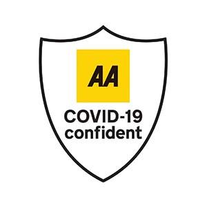 COVID-19 Confident | AA Accreditation Badge